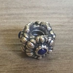 Pandora August Birthday Bloom Lapis Charm